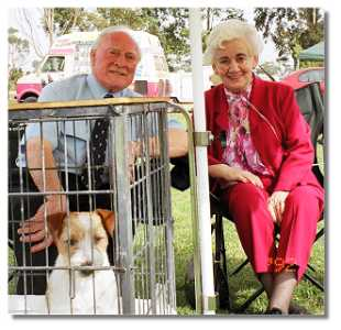 Murphy at a show with two of his keenest fans,  Grandma and Grandpa!